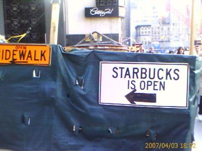 Starbucks is open
