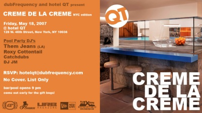 Creme de la QT Hotel QT party pool Free NYC