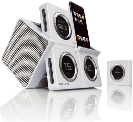 ipod, speakers, dock, alarm, clock, radio, video, iphone, touch, boynq, design