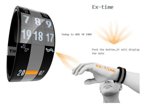 ex-time projection projector watch