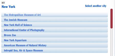 Bank of America free museum passes